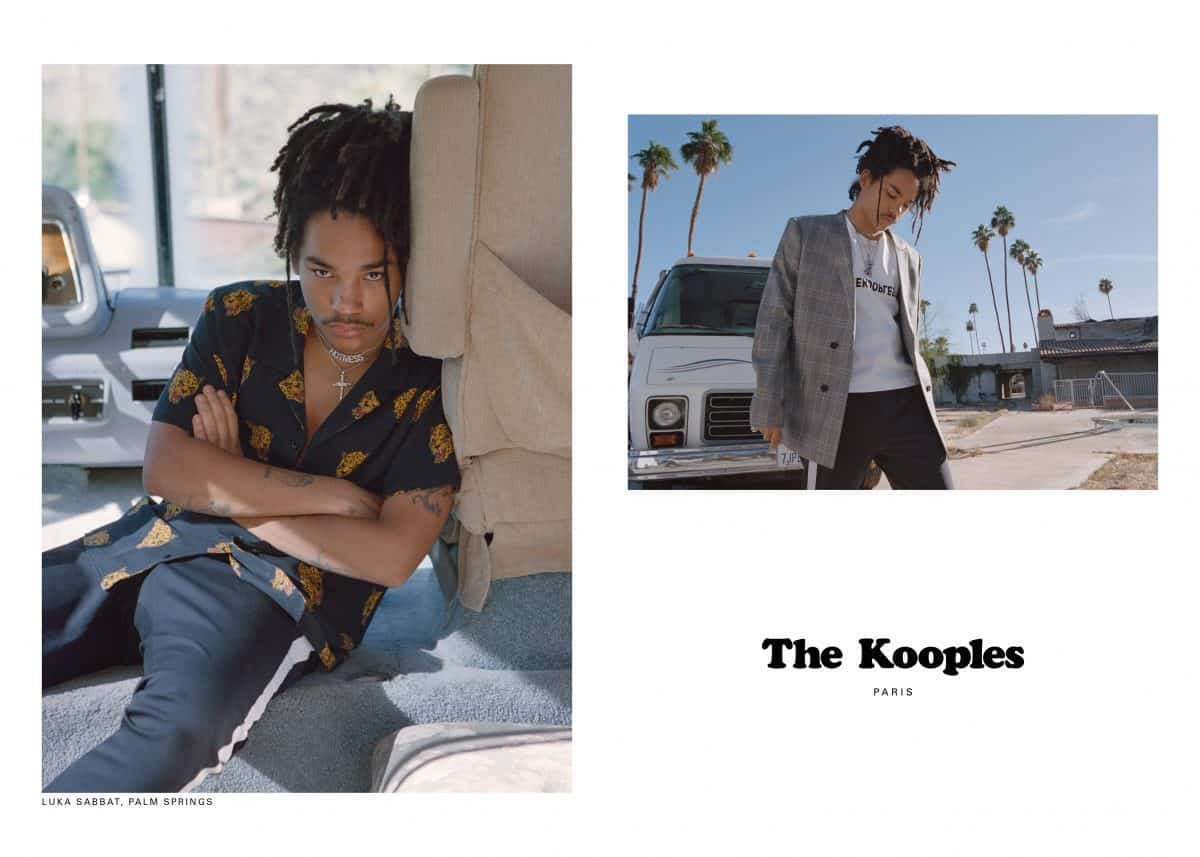 711980a9ed0 THE KOOPLES TAPS LUKA SABBAT TO FRONT MEN'S SPRING CAMPAIGN